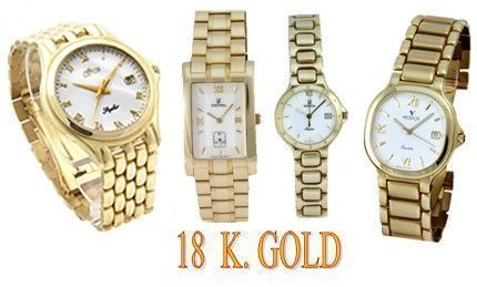 18 K. Watches