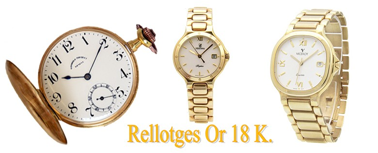 Rellotges or 18 K.
